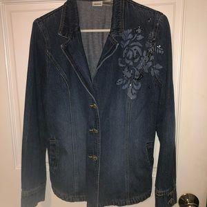 Together brand jean jacket embellished